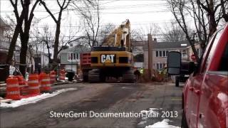 Cat Construction Equipment Digging Sewers....For Kids