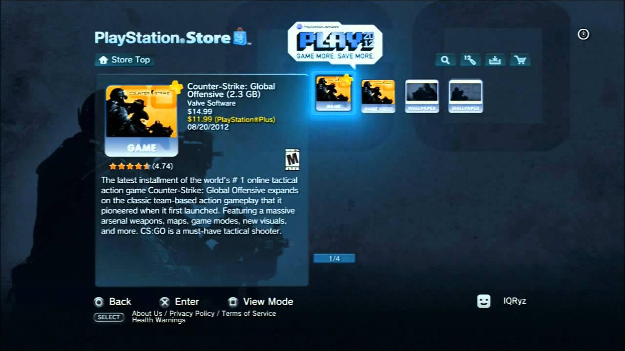 cs go playstation 4