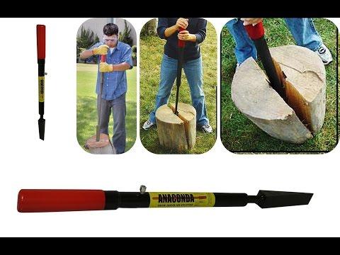 Heavy Duty Durable Slide-Hammer Manual Log Splitter Firewood Tool System Wedge