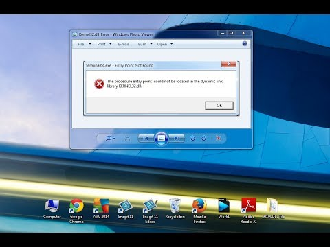 Fix kernel32.dll error or missing to Windows 7, 8, Vista, XP