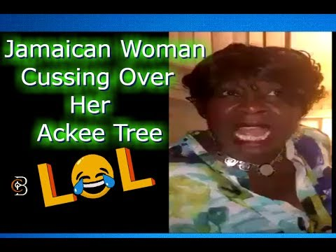 Jamaican Woman Cussing Over Her Ackee Tree