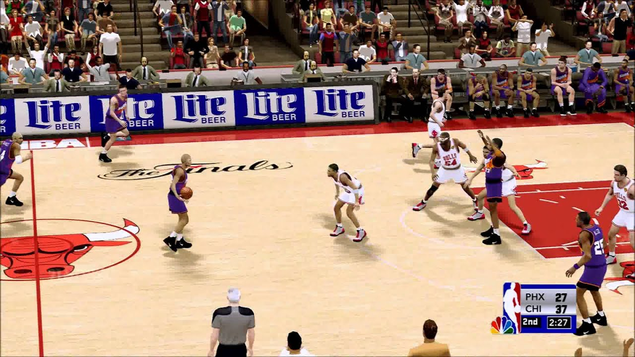 1993 NBA Finals Bulls vs Suns HD Q2 - YouTube