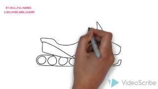 How to Draw a Snowmobile / Как нарисовать Снегоход
