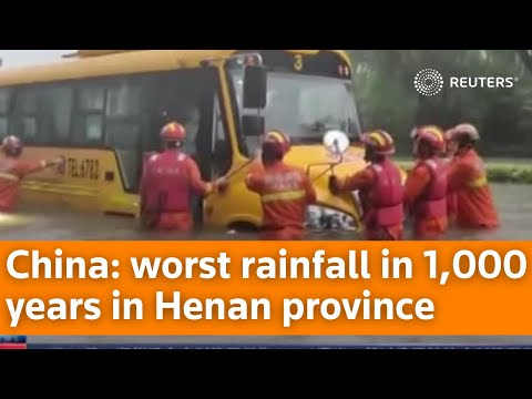 Worst rainfall in 1,000 years in China's Henan province