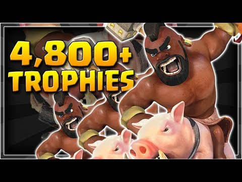 HOG FREEZE! | Pushing to 4,800+ Trophies! | Clash Royale Hog Rider Deck For Challenger 3