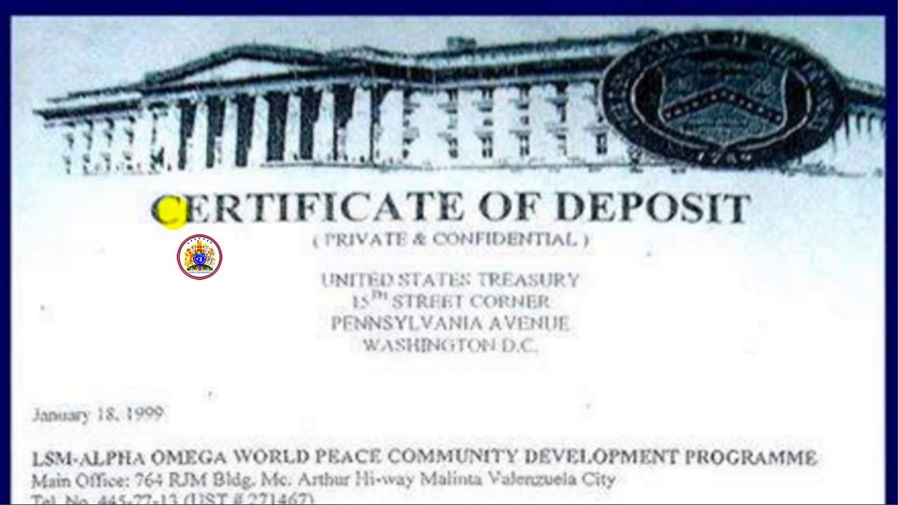 Tvm Lsm 666 Certificate Of Deposit At Us Treasury Youtube
