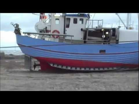 Fishing Boats On Torup Beach, Denmark.