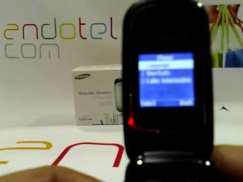Samsung GT E1150. Demostracion del telefono movil de Samsung a cargo de Andotel.com