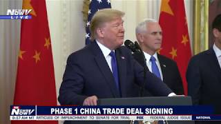 CHINA TRADE DEAL: President Trump Signs HISTORIC Phase 1 Trade Deal