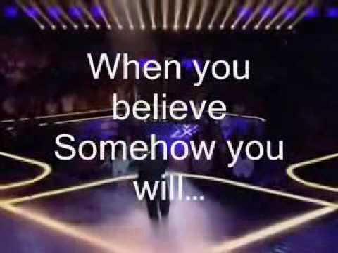 When You Believe- Leon Jackson Karaoke