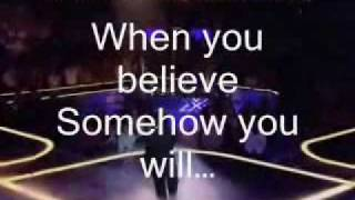 When You Believe- Leon Jackson Karaoke