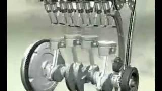 видео двигатель в разрезе