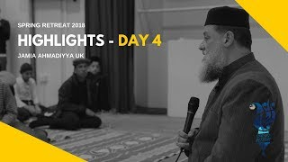 MKA NEWS - Jamia Spring Retreat 2018 - Day 4 Highlights