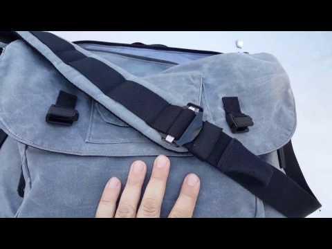 Blackhawk waxed canvas messenger bag