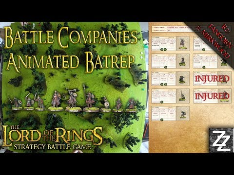 Battle Companies Animated Battle Report ~ League Round Two: MIRKWOOD & FANGORN