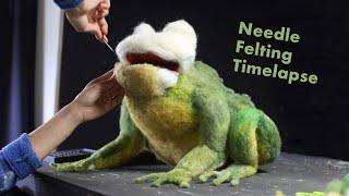 Needle Felting a Giant Bullfrog