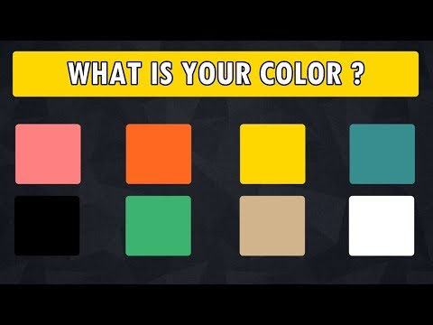 What Is Your Personality Color ? Personality Test