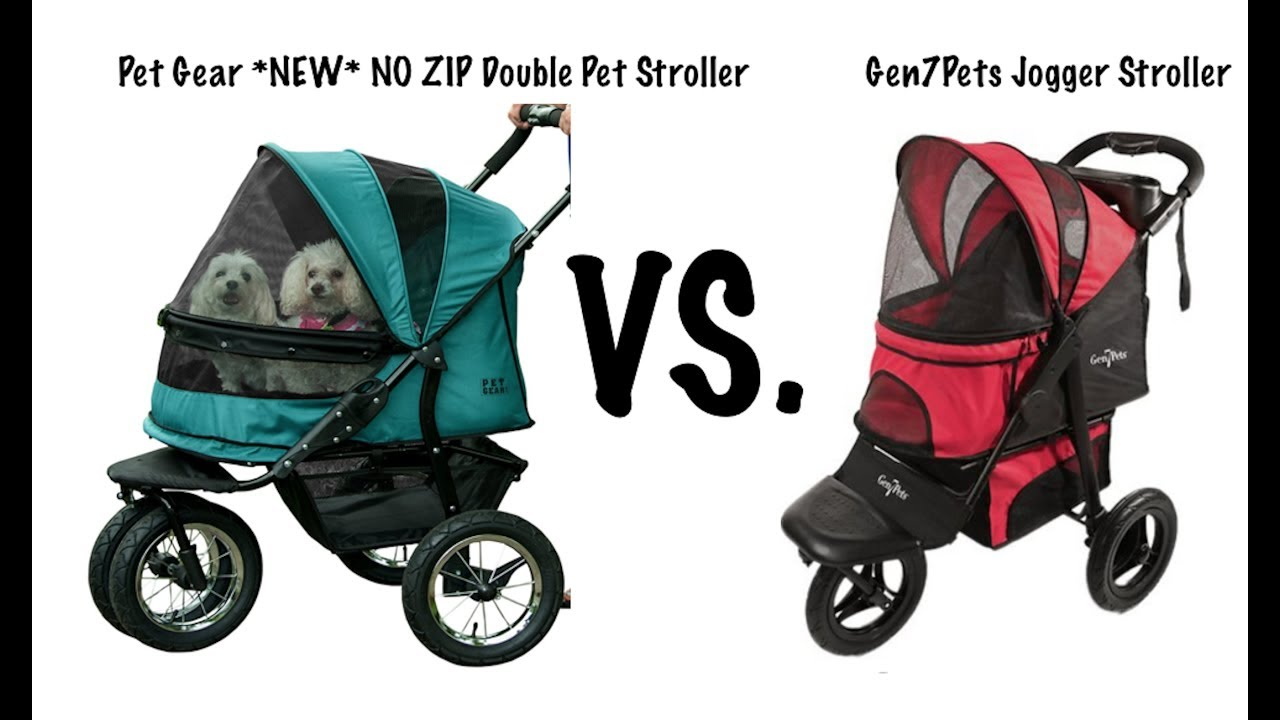 3b390de2d1d Pet Gear  NEW  NO ZIP Double Pet Stroller VS. Gen7Pets Jogger Stroller
