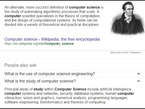 Why Computer Science ? - US interview answer format