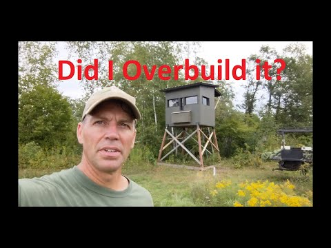 Elevated Hunting Blind (6x8) - Full Tour!