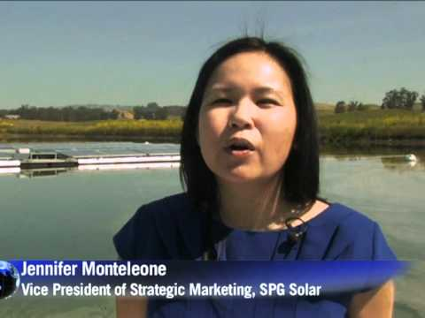 Winemakers power vineyard with floating solar cells