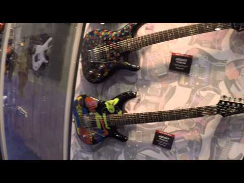 NAMM 2015 - Ibanez JOE SATRIANI Hand Drawn Guitars | GEAR GODS