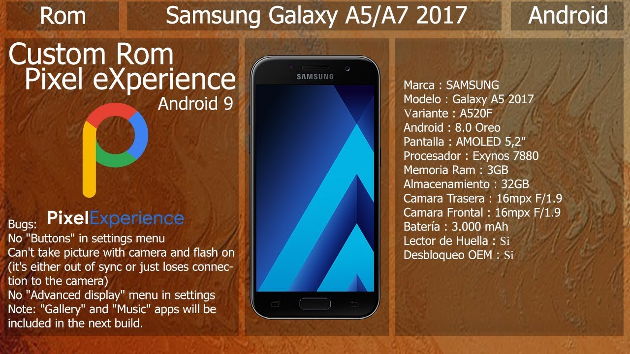 Rom Pixel Experience - Samsung Galaxy A5 / A7 2017