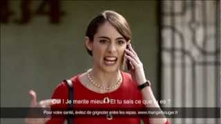 Orangina bird poop commercial 2013 (French speaking American English)