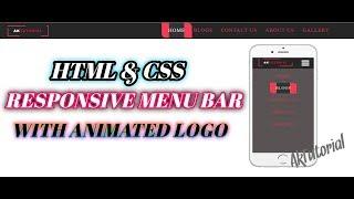 Kullanarak Animasyonlu Logo İle Duyarlı Menü Çubuğu Html & Css - Ak Öğretici