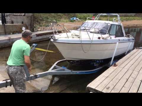 Правильная погрузка катера