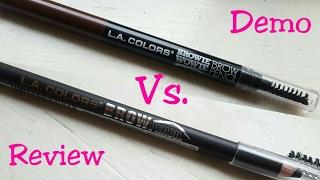 L.A. Colors Brow Pencil Demo/Review/Comparison