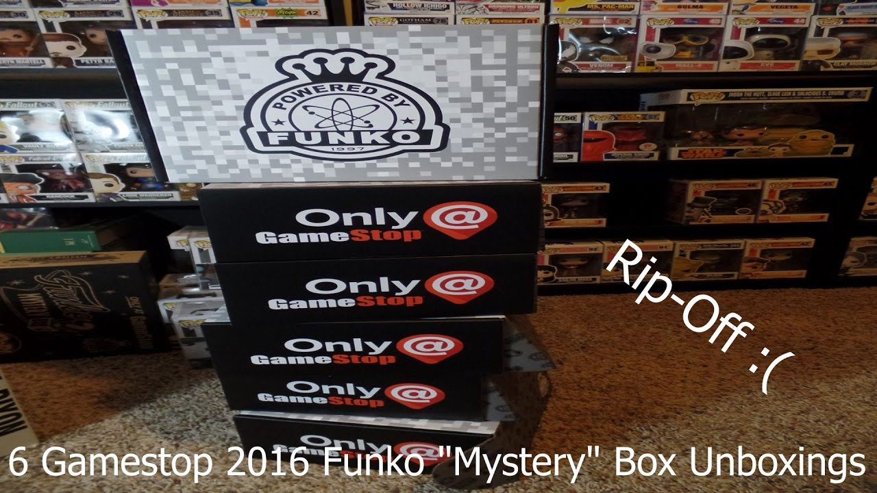 Unboxing 6 Gamestop 2016 Funko Black Friday Mystery