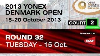 R32 (Court 2) - XD - P.Jordan / V.Marissa vs C.Adcock / G.White - 2013 Yonex Denmark Open