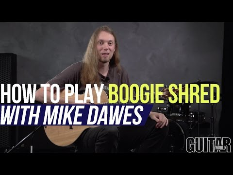 """Mike Dawes - How to Play """"Boogie Shred"""" - Percussive Acoustic Guitar Techniques"""