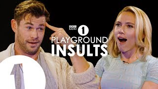 Chris Hemsworth and Scarlett Johansson Insult Each Other | CONTAINS STRONG LANGUAGE! thumbnail