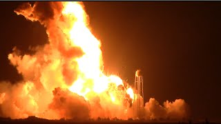 Orbital Antares Rocket Launch Failure & Explosion - Eyewitness Video 2.2 Miles Away