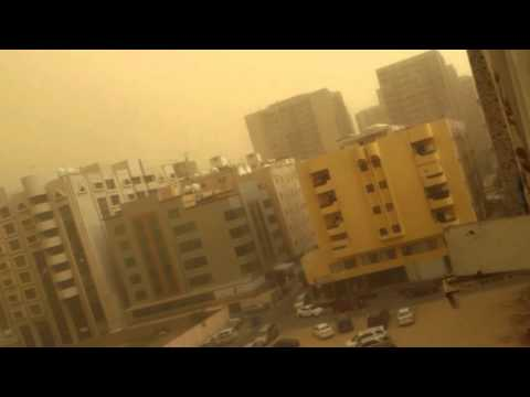 LIVE HUGE SANDSTORM IN JEDDAH- 26 APRIL 2016