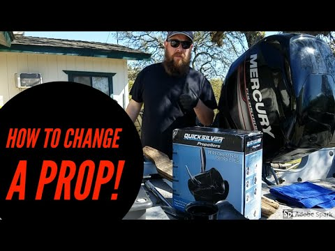 How to Change A Prop On A 4 stroke Mercury 60 hp outboard Motor|Propeller replacement