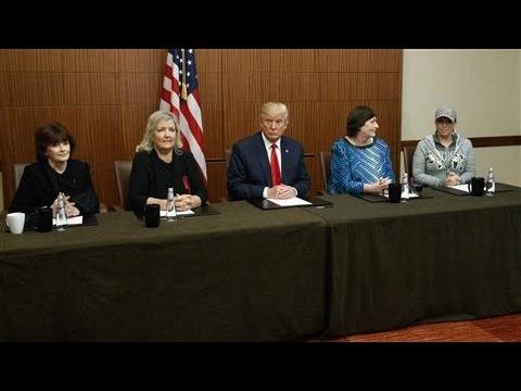 Trump's Surprise Media Event With Bill Clinton Accusers