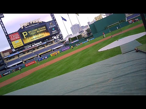 Taking batting practice on the field. Pirates Season Ticket Member Field Day at PNC Park