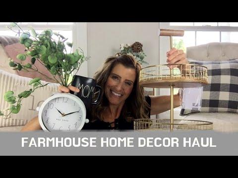 LARGE FARMHOUSE HOME DECOR HAUL | HOBBY LOBBY, MARSHALL'S, TJ MAXX, RAE DUNN | FARMHOUSE DECOR