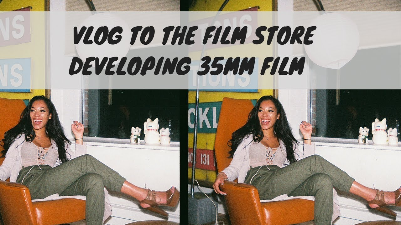 Vlog Trip To The Film Store To Get 35mm Film Developed Under 12