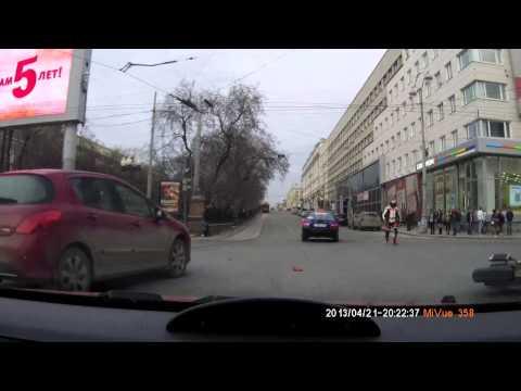 Авария на ул. Ленина, байк vs авто