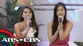 Jenine Desiderio performs duet with daughter