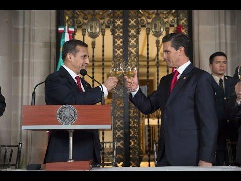 Comida en honor del señor Ollanta Humala, Presidente de la República del Perú