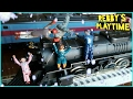 Toy Train Video for Kids. Polar Express Train : The Broken Steam. Rebby's PlayTime. 기차 장난감, 폴라 익스프레스