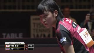 女子シングルス2回戦 平野美宇 vs スターシニー 第4ゲーム