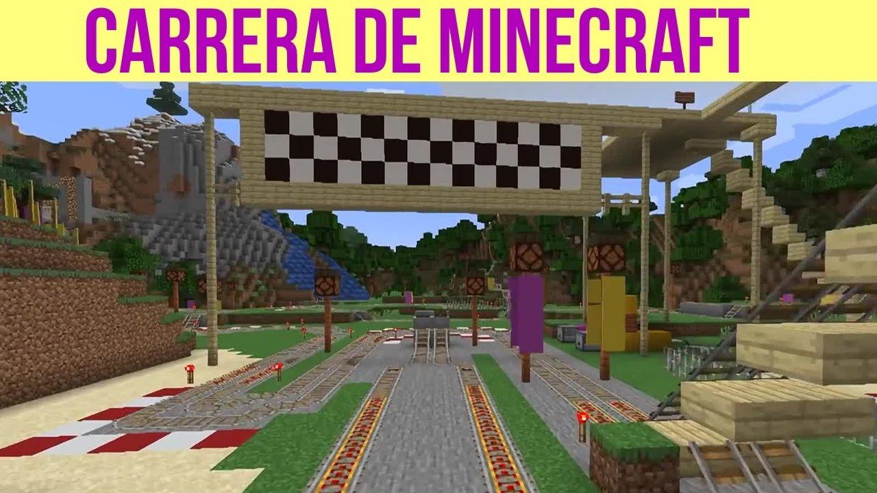 Un Viejo Circuito De Carrera Que Hice En Minecraft (Video Tonto, Pero Estoy Enfermo)