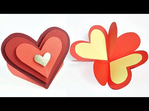 Valentine's day Greeting gift card love design ideas for boyfriend | Heart card Step by Step DIY