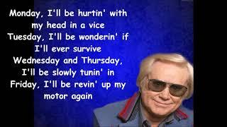 It's finally Friday George Jones with Lyrics